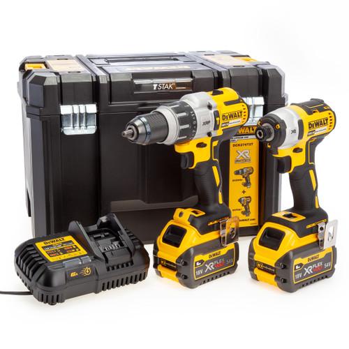 Dewalt DCK276T2T 18V XR Combi Drill & Impact Driver Twin Pack (2 x 6.0Ah Batteries) in TSTAK Box 2