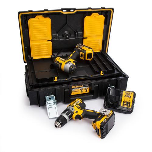 Dewalt DCK266D2 18V XR Brushless Twin Pack - DCD796 Combi Drill + DCF887 Impact Driver (2 x 2.0Ah Batteries) - 6