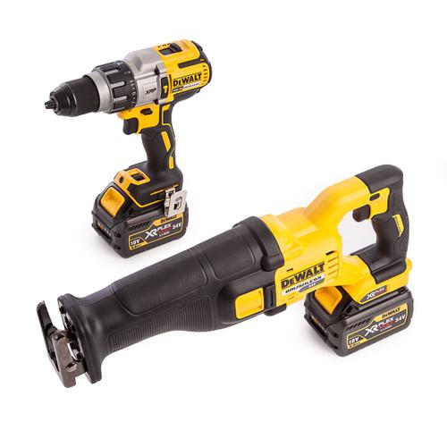 Dewalt DCK2057T2T-GB 18V DCD996 Combi Drill Driver + DCS388 54V Flexvolt Reciprocating Saw (2 x 6.0Ah Batteries) - 5