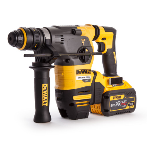Dewalt DCH334X2 54V Flexvolt SDS Hammer with QCC (2 x 9.0Ah Batteries) - 4