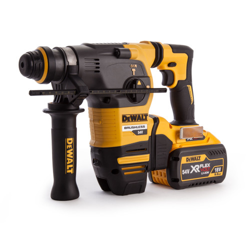 Dewalt DCH333X2 54V XR Flexvolt Brushless 3-Mode SDS Rotary Hammer(2 x 9.0Ah Batteries) - 8