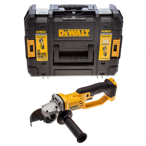 Dewalt DCG412NT 18V XR Angle Grinder 125mm (Body Only) with TSTAK Box - 4