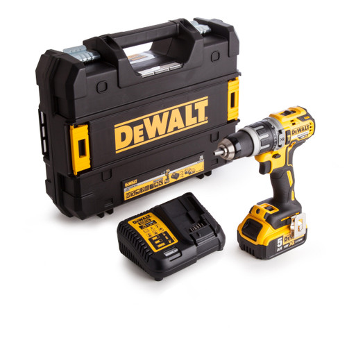 Buy Dewalt DCD796P1 18V XR Brushless Compact Combi Drill (1 x 5.0Ah Battery) at Toolstop