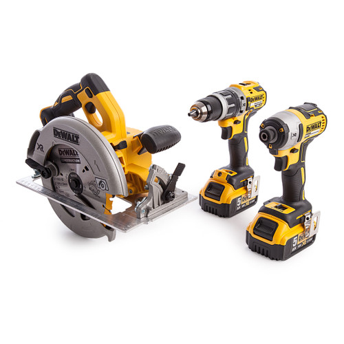Dewalt 3 Piece 18V XR Brushless Compact Kit (2 x 5.0Ah Batteries) - 6