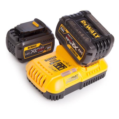 Dewalt 2 x DCB546 54V XR Flexvolt 6.0Ah Batteries + DCB118 XR Fast Charger - 3