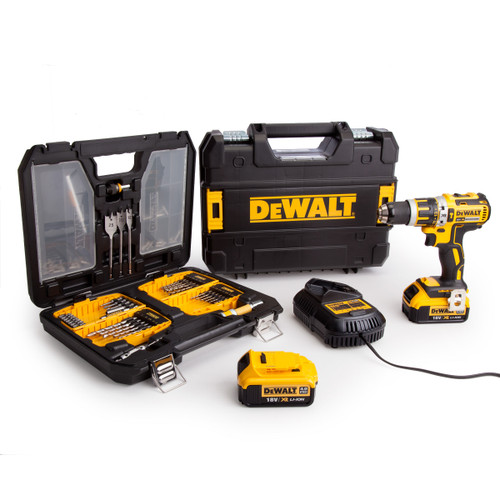 Dewalt DCD795M2 18V XR Combi Drill (2 x 4.0Ah Batteries) + DT9296 90 Piece Set - 3