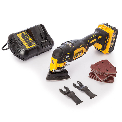 Dewalt DCS355 Multi-Tool, 29 Accessories, Charger (1 x 4.0Ah Battery) - 2