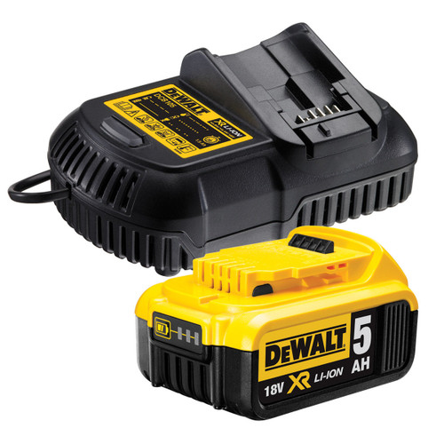 Buy Dewalt DCB184 18V XR li-ion 5.0Ah Battery with DCB105 Multi Voltage Charger at Toolstop