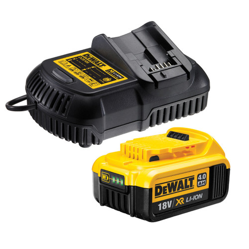 Buy Dewalt DCB182 18V XR li-ion 4.0Ah Battery with DCB105 Multi Voltage Charger at Toolstop