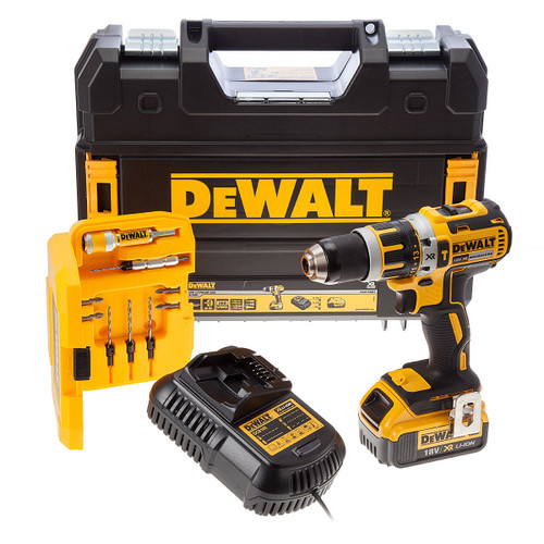 Dewalt DCD795M1 Combi Drill 18V (1 x 4Ah Battery) + DT7612 Quick Change - Drill & Drive Accessory Set - 3