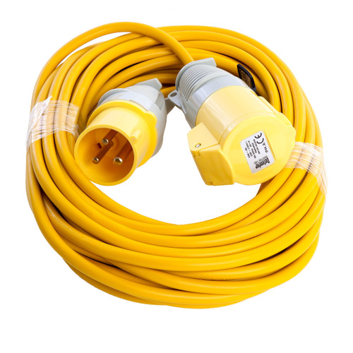 Defender E85111 Extension Lead 16a 1.5mm 14 Metres Yellow 110V - 1