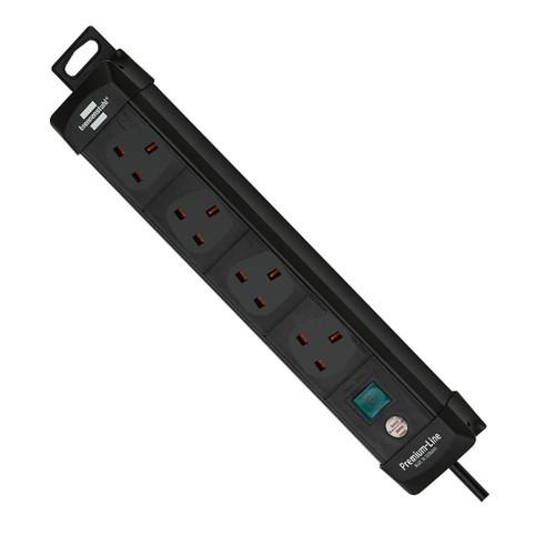 Buy Brennenstuhl 1951143601 Premium-Line Extension Socket 4-Way 3 Metres 240V at Toolstop