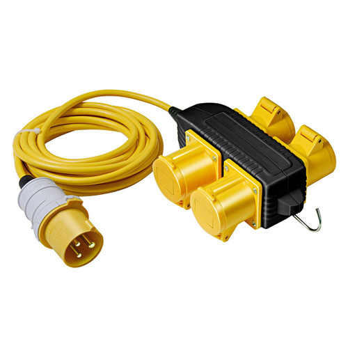 Buy Brennenstuhl 1166303110 Extension Cable with 4 Way Powerblock 14m 110V at Toolstop