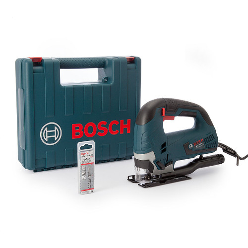 Bosch GST 90 BE Jigsaw Bow Handle in Carry Case with 25 x Jigsaw Blades 110V - 7