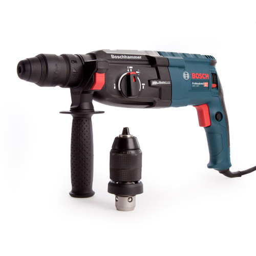 Bosch GBH 2-28 F SDS+ Rotary Hammer Drill with Quick Change Chuck 2kg in L-Boxx 110V - 5