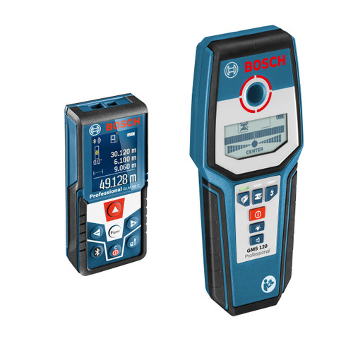 Bosch GLM50C/GMS120 Professional Laser Measure and Detector Twinpack - 6