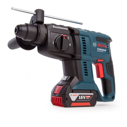 Bosch GBH 18V-20 Cordless SDS Plus Rotary Hammer (2 x 5.0Ah Batteries) - 6