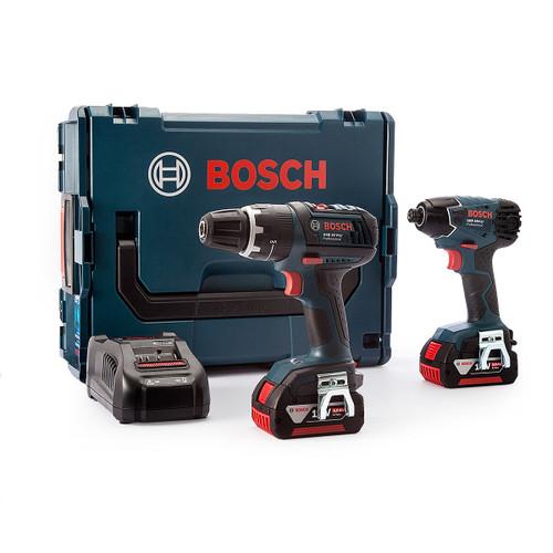 Bosch DSGSBGDR185 Mid-range Combi + Mid-range Impact Driver in L-Boxx (2 x 5Ah Batteries) - 6