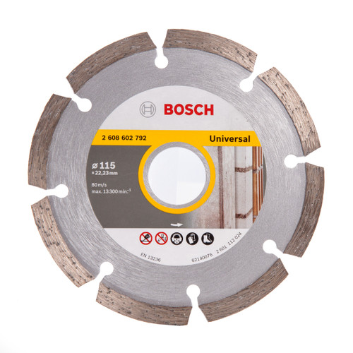 Bosch 2608602792 Universal Diamond Blade 115mm - 2