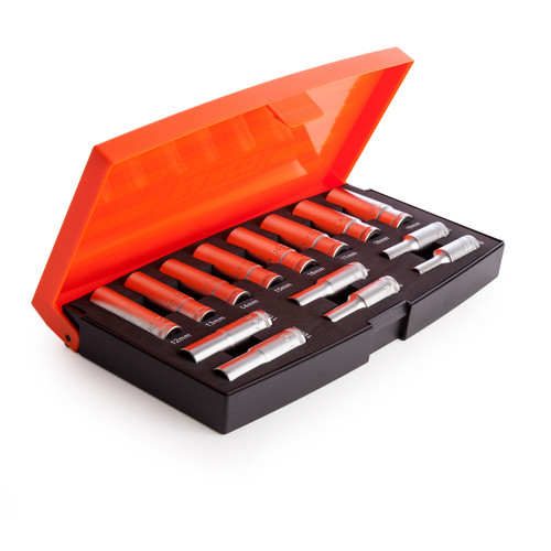 Buy Bahco S1214L Deep Socket Set 3/8in Drive (14 Piece) at Toolstop