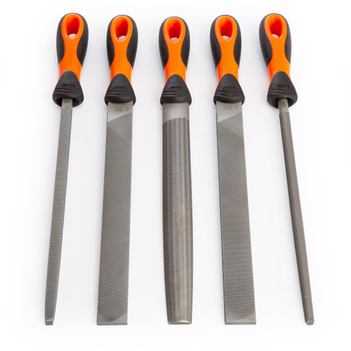 Bahco 1-478-10-1-2 Assorted Engineers File Set 10 Inch / 250mm (5 Piece) - 4