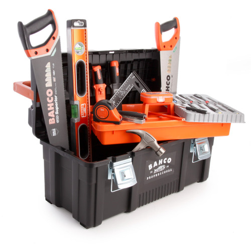 Bahco 4750PTB65TS2 General Purpose Tool Box Kit 15 Piece - 2