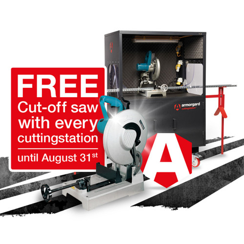 Armorgard SS3 CuttingStation Chop Saw Workbench - Free Makita Chop Saw - 5