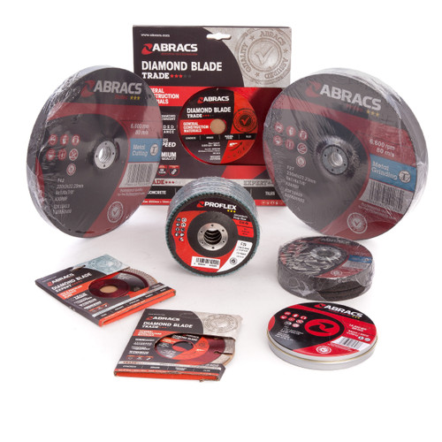 Abracs PACK33 Angle Grinder Assorted Accessory Pack 115mm & 230mm x 22mm (33 Piece) - 1