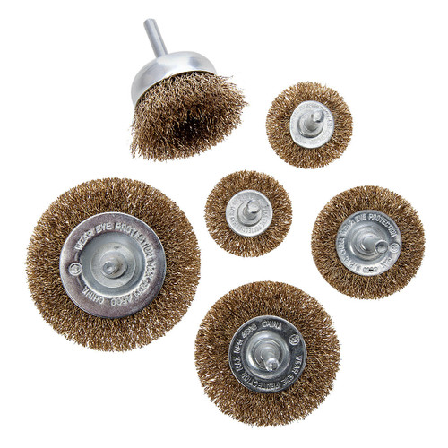 Abracs Wire Wheel & Cup Brush Set (6 Piece) - 2