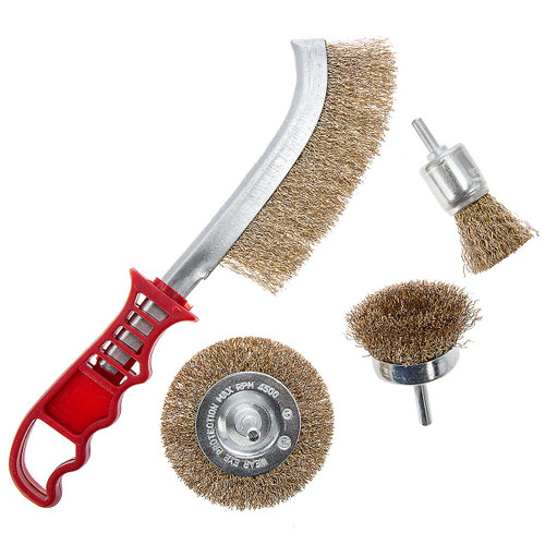 Abracs Spindle Mounted & Scratch Brush Pack (4 Piece) - 2