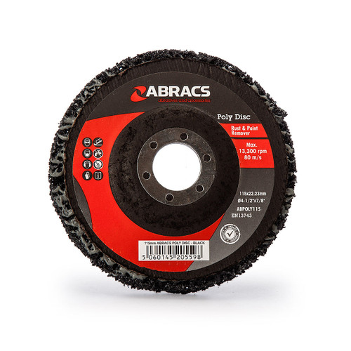 Abracs ABPOLY115 Poly Disc for Rust & Paint Removal Black 115mm - 2