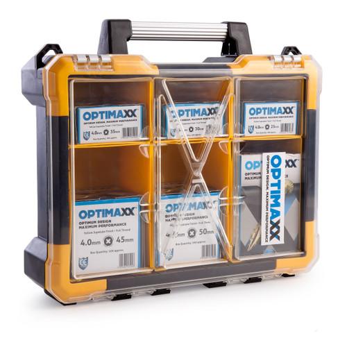 Optimaxx C288-742 Assorted Wood Screws in Midi Case (1200 Screws) - 1