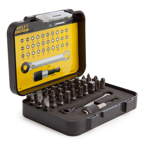 Stanley 1-13-905 Fatmax Ratchet Wrench & Bit Set (32 Piece) - 2