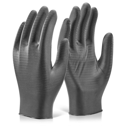 Glovezilla GZNDG10 Nitrile Powder Free Disposable Gloves in Black - X Large (Pack of 100) - 2
