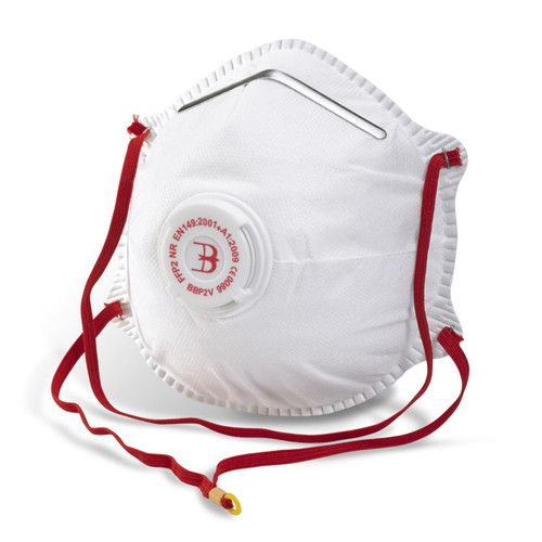 Beeswift BS031 Moulded Valved Respirator FFP2 (Pack of 5) - 1