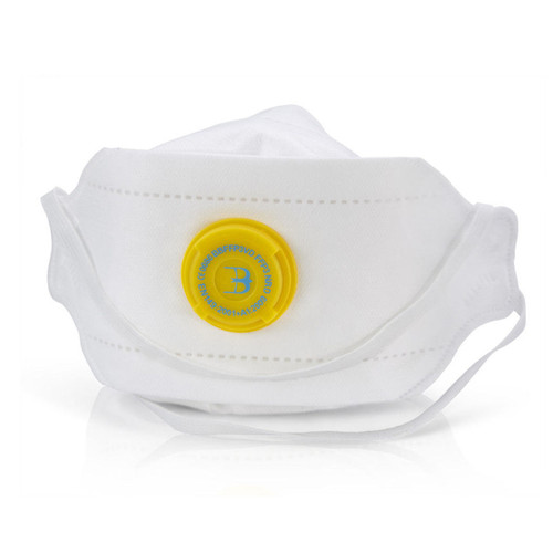 Beeswift BS036 Fold Flat Valved Respirator FFP3 (Pack of 3) - 1