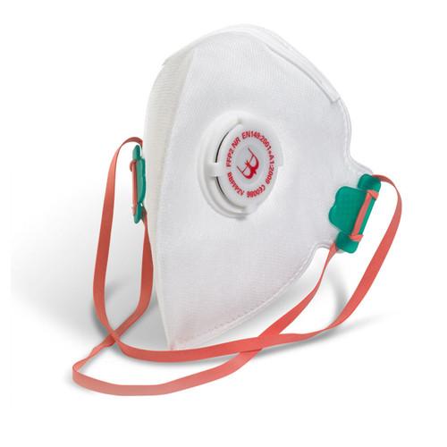 Beeswift BS035 Fold Flat Valved Respirator FFP2 (Pack of 5) - 1