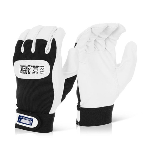 Beeswift BS051 Soft Grain Leather Drivers Gloves (X Large) - 1