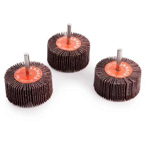 Buy Abracs FWPK360 Spindle Mounted Flap Wheel Pack 60mm (3 Piece) at Toolstop