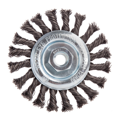 Abracs ABWBPL115M14 Pipeline Brush Twist Knot 115mm x M14 - 1