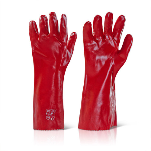 Beeswift BS056 Red PVC Gauntlets 16 Inch - 1