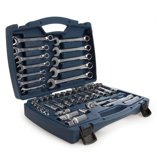 Sealey AK8996 Metric Socket & Spanner Set 3/8in Square Drive Walldrive (46 Piece)