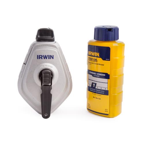 Irwin 10507684 Strait-Line Mach 6 Reel + Blue Chalk - 1