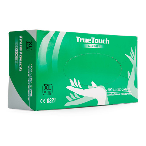Buy True Touch GD1001PF Latex Gloves Pack of 100 White Extra Large at Toolstop