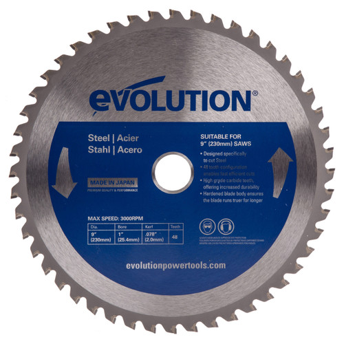 Evolution EVOBLADE230 Mild Steel Blade 230mm - 1