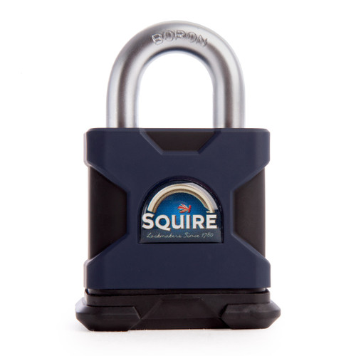 Henry Squire SS50S Stronghold 50mm Solid Steel Padlock Open Shackle - 1