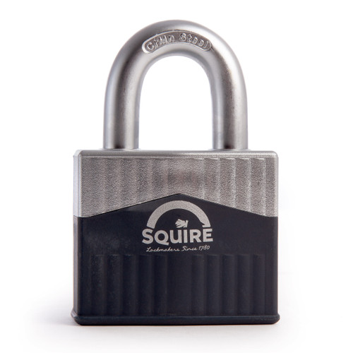 Henry Squire WARRIOR-65 Hardened Steel Shackle Armoured Steel Padlock 65mm - 1