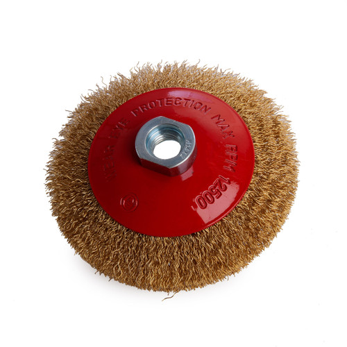 Abracs ABWBB115M14C  Crimped Wire Bevel Brush - 1