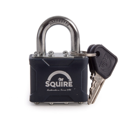 Buy Henry Squire NO35 Laminated Double Locking Padlock 4 Pin Stronglock 40mm at Toolstop