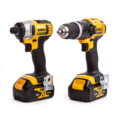 Dewalt DCZ285M2T 18V Twin Pack - DCD785 Combi Drill + DCF885 Impact Driver (2 x 4.0Ah Batteries) - 3